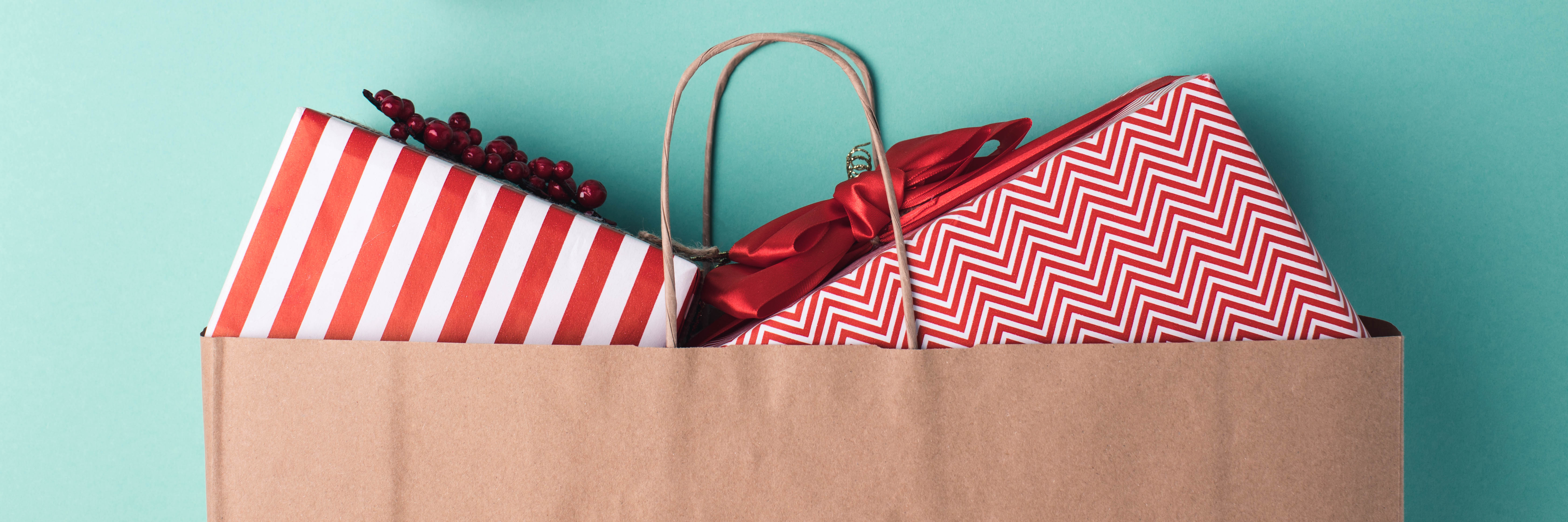 Christmas Presents in a Shopping Bag